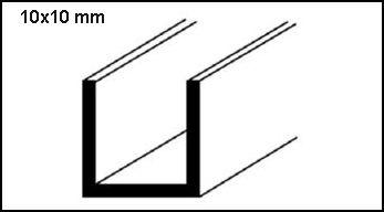 Profilo alluminio lucido a U