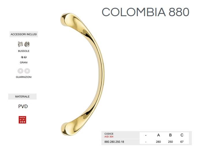 Maniglione 3810 colombia Inox-oroPVD