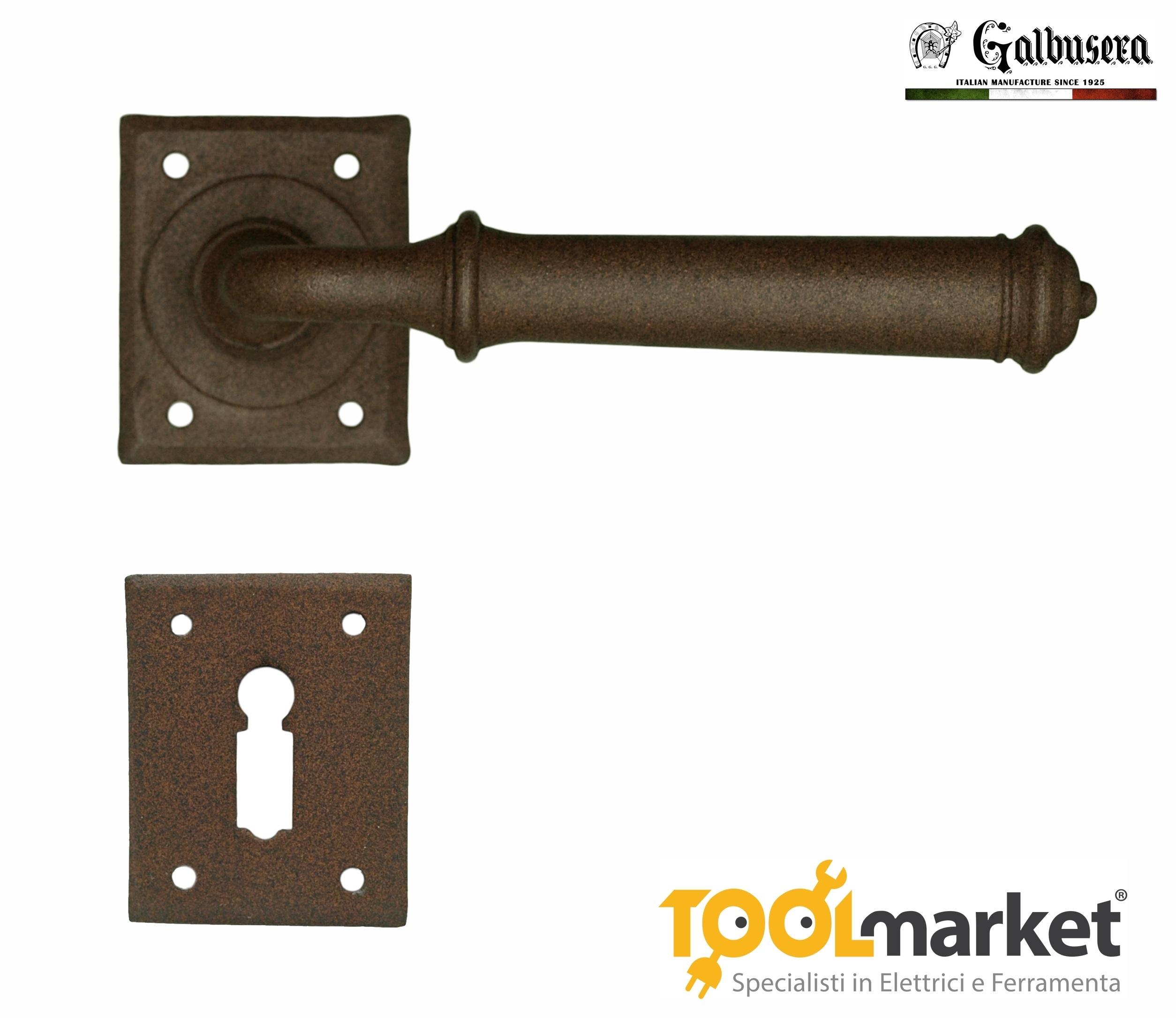 Maniglia con molla di ritorno per porta in colore KORTEN modello TALLIN art.1901 - GALBUSERA