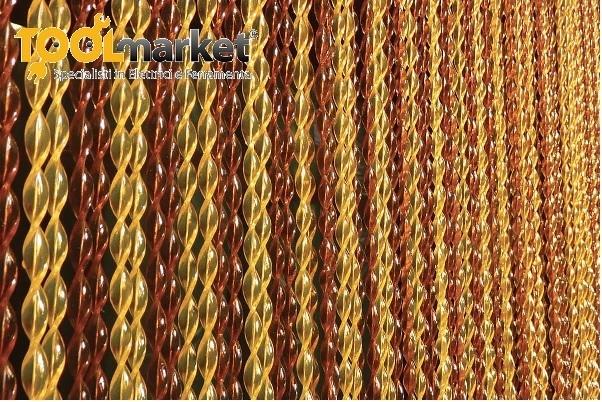 Tenda antimosche ELIX in pvc estruso 120 x 230 oro-coca