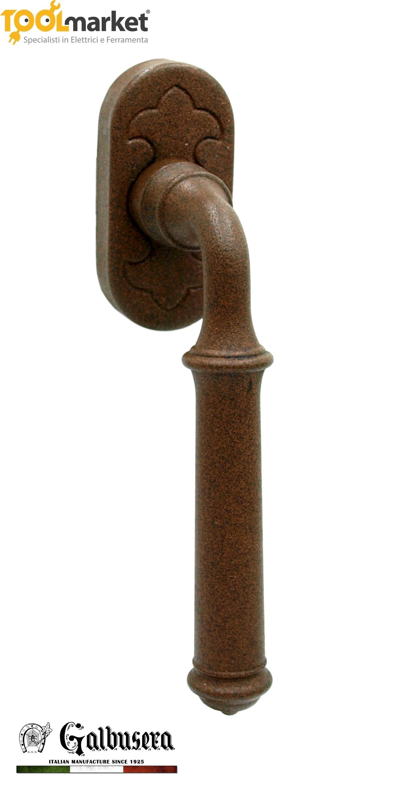 Maniglia per finestra ad anta ribalta in colore KORTEN art 1905 - GALBUSERA