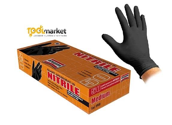 guanti  nitrile spessorati arexons pz 50
