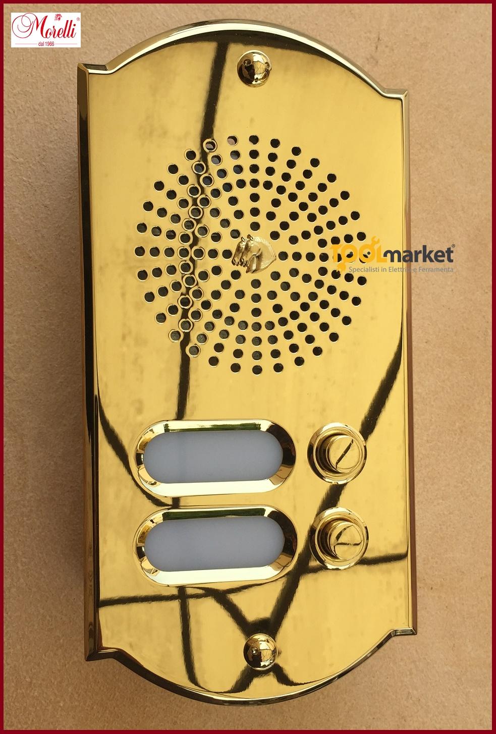 Pulsantiera citofonica ottone PVD 2 pulsanti CPT