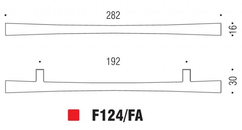 Maniglia Formae 124 da 192mm
