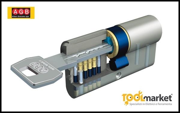 Cilindro scudo 5000 cromo opaco - AGB