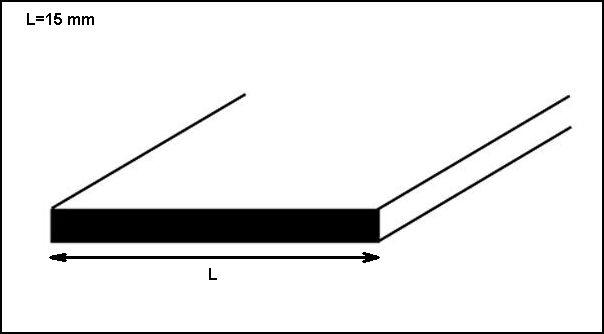 Profilo alluminio lucido piatto