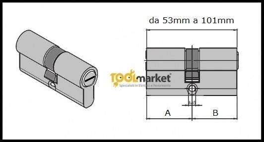 Cilindro FF Facchinetti sagomato C10 cromo opaco