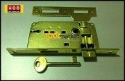 Serratura patent piccola ottonata bordo quadro