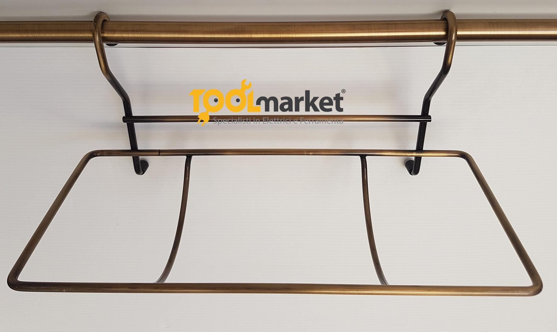Cestello porta rotolo per tubo bronzato